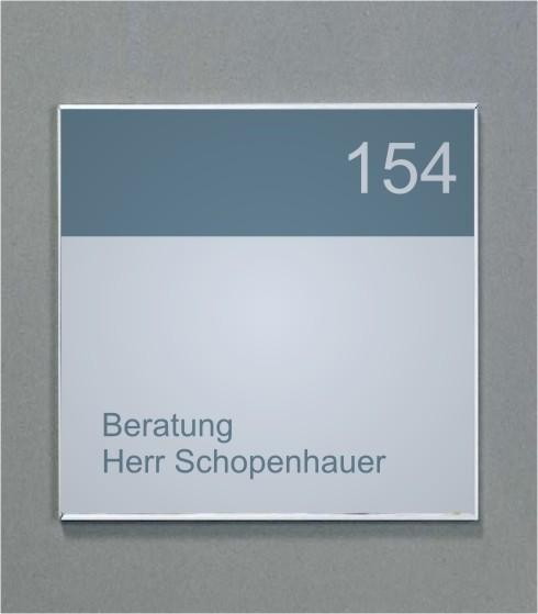 Wandschild | System Karlsruhe | 12 cm x 12 cm